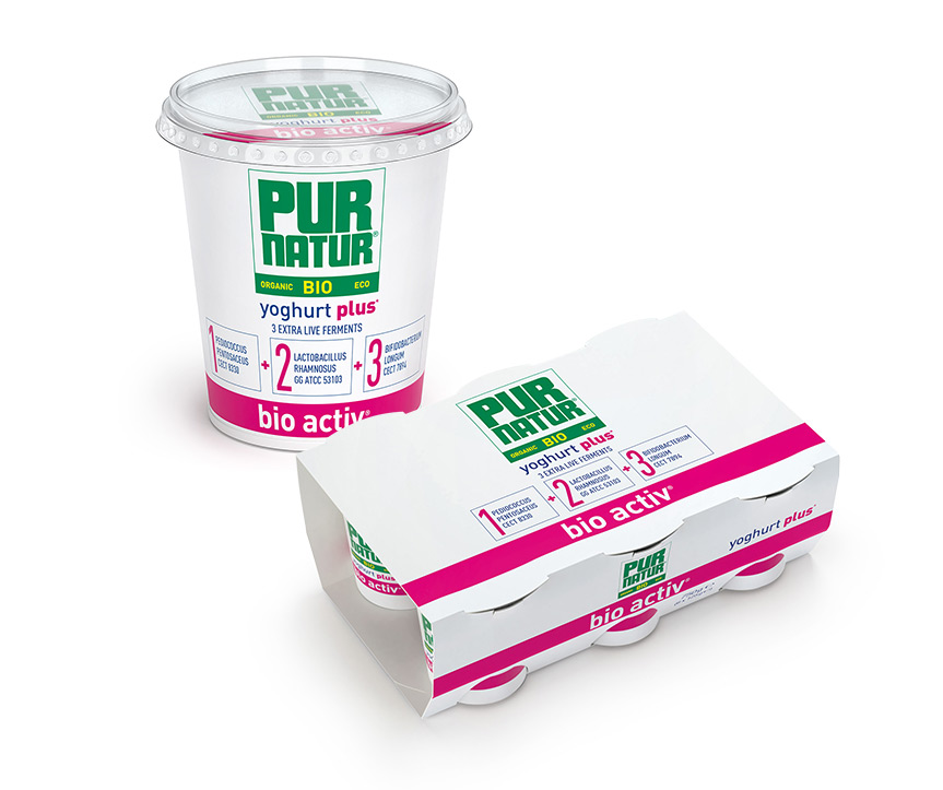The unique pur natur bio active formula with added yogurt cultures